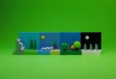 Seasons (Melan-E) Tags: winter summer fall spring seasons lego micro vignette lug afol microscale legography torolug