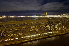 No-white nights (Fabien Husslein) Tags: city winter cold ice saint night river russia hiver petersburg most pont russian nuit russie neva petersbourg blagoveshchensky