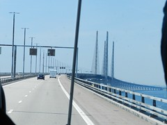 On the Oresund Bridge between Denmark and Sweden (graham19492000) Tags: denmark sweden oresundbridge