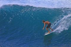 sliding in (bluewavechris) Tags: ocean sea sun water fun hawaii surf action surfer wave maui spray surfboard thebay swell honoluabay honolua