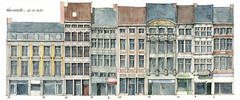 Liège, Féronstrée (gerard michel) Tags: architecture belgium aquarelle watercolour liège élévation