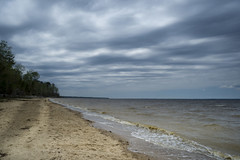 Flanners Beach (Glenn Anderson.) Tags: beach water clouds river sand overcast neuse flanners a850 startrecreationarea