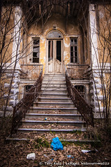 . forsaken! (TeryKats) Tags: door tree abandoned broken glass leaves stairs dead concrete stair debris falling foliage greece staircase brake forsaken deserted xanthi eastmacedoniaandthrace