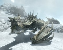 2012-04-18_00003 - Paarthurnax (tend2it) Tags: world game beautiful fire pc screenshot dragon view shot character xbox battle v rpg elder throat breathing scrolls ps3 skyrim tesv