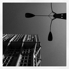 Angles (juras77) Tags: city blackandwhite bw building lines architecture square torre geometry milano angles bn squareformat urbano inkwell architettura citt iphone linee angoli velasca iphoneography instagramapp uploaded:by=instagram