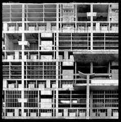 Space, Light and Order (designldg) Tags: light urban india heritage window wall architecture modern square design blackwhite order geometry culture style atmosphere punjab lecorbusier shape rhythm chandigarh  indiasong
