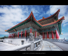 The National Theater at Chiang Kai-Shek Memorial Hall, Taipei, Taiwan :: HDR (Artie | Photography :: I'm a lazy boy :)) Tags: classic architecture photoshop canon chinese taiwan wideangle structure handheld taipei ef 1740mm hdr concerthall nationaltheater artie memorialhall chiangkaishek cs3 3xp f4l photomatix tonemapping tonemap 5dmarkii 5dm2