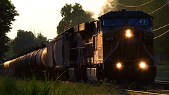 On the go again... (VFR Photography) Tags: railroad yellow rural train golden spring tn adams diesel farm tennessee farming engine railway trains engines transportation unionpacific locomotive agriculture ge railways hopper locomotives agricultural railroads lateafternoon generalelectric southernpacific southbound hoppers csx railroading winterwheat 6183 motivepower ac44cw dieselelectric 7033 robertsoncounty coveredhopper ac4460cw exsouthernpacific coveredhoppers hendersonsub sadlersville hendersonsubdivision bagbyroad ac4460cw7033 ac44cw6183
