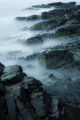 Ramparts (loomstone) Tags: longexposure seascape water rocks maine shoreline seashore seacoast daybreak ogunquit marginalway bigstopper