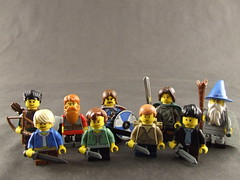 The Fellowship of the Ring (Shadow Viking) Tags: sam lego lotr gandalf aragorn merry minifigs pippin frodo gimli jrrtolkien boromir legolas strider thelordoftherings thefellowshipofthering