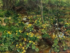 Munthe, Gerhard (1849-1929) - 1892 Marigolds (Private Collection) (RasMarley) Tags: flowers landscape 19thcentury norwegian painter impressionism marigolds 1890s 1892 privatecollection munthe gerhardmunthe