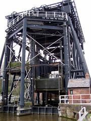Anderton Boat Lift - angled view (DizDiz) Tags: uk england wall cheshire railings anderton boatlift riverweaver olympusc720uz