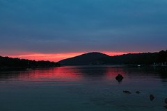 An echo of night (ChrisBrn) Tags: sunset sea dusk greece syvota ionion