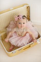 Precious Tutu! (Heidi Hope) Tags: babygirl suitcase tutu 6months childrensphotographer rhodeislandphotographer heidihopephotography heidihope rhodeislandchildrenportraitphotography wwwheidihopecom