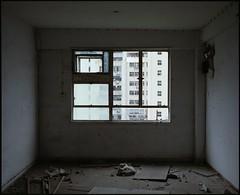 abandoned quarter (Egg Cheung) Tags: abandoned 120 film window hongkong medium 6x7 urbex fujicolorpro400h fujifilmgf670professional wwwfacebookcomurbanfragment