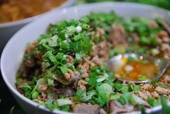 Larb Khua Moo spicy pork and offal dip - Songkran Festival Gala Dinner at Raming Lodge Hotel