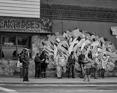 Sneaky Dees - DSC 1394 ep (Eric.Parker) Tags: street blackandwhite bw toronto college monochrome africanamerican bathurst sneakydees grafiiti