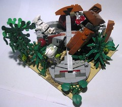 Mission 12.3 - Wild Space - A Response to Neglect (ick') Tags: star lego crab swamp wars clone droid speeder bakura