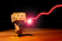 day 238 - danbo ain't 'fraid a no ghost (AlexTurton) Tags: lighting photoshop canon call you who no 14 ghost sigma pack 7d buster lightning 365 aint gonna ghostbusters proton tesla lightroom ghostbuster 30mm danbo afriad sigma30mm14 protonpack project365 danboard canon7d crossthestreams aintafraidanoghost ghostbusterdanbo danboghostbuster