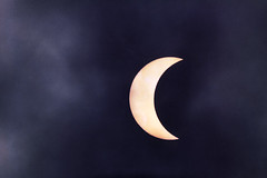 Eclipse (the aurelian) Tags: sky sun moon slr film clouds analog eclipse scary memories apocalypse surreal 1999 crescent spooky telescope telephoto astrophotography oldphoto astronomy zenit ttl doomsday atmospheric russiancamera scannedprint maksutov eclisse 1000mm konicavx200 zamienie sovietlens mto11ca theaurelian