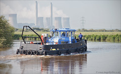 Around Stoney Bight (roddersdad) Tags: boats countryside may tug tugs 2012 rivertrent coolingtowers britishwaterways maidmarion workingboats canon5dmark2 stoneybight pushertugs wwwimagesbyclivecouk canonef24105mmlf4isusmlens copyrightclivejmaclennan