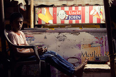Uncle John & The Ice Cream Boy!!! (VinothChandar) Tags: light portrait india color colour ice beach colors shop night canon john photography photo colorful photos vibrant uncle cream kerala 5d vendor alleppey alapuzha
