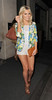 Mollie King from pop group The Saturdays, leaving her hotel. London, England