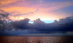 Sunset on the Water (~Bella189) Tags: sunset water clouds costarica gamewinner challengeyouwinner favescontestwinner beautifulworldchallenges fotocompetition fotocompetitionbronze