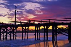 Going where I please (Damian Gadal) Tags: goleta beach pier california sunset clouds silhouette nikon d80 nikond80 december 2011 free creativecommons