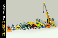 Tiny Trucks on Cuusoo (Robiwan_Kenobi) Tags: man mercedes volvo lego bricks renault tiny trucks scania iveco daf lkw liebherr cuusoo microscale 4wide