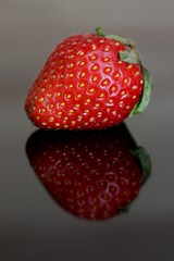 149-366 Addiction (cheesy42) Tags: red black reflection rot fruit strawberry seeds frucht addiction schwarz 2012 reflektion erdbeere samen sucht 366 project366 scavenger7 349366 ourdailychallenge 3662012 20120528