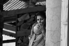 . (Perret pierre/ zounix / eye in motion) Tags: portrait people bw woman india white mountain black face nikon noiretblanc mother dxo hindu himachal shakti parvati mela monocrome d90 devta blackwhitephotos najan zounix