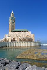 Hassan II Mosque (side view) (RodaLarga) Tags: lumix mosque morocco casablanca hassaniimosque lx5