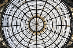 Glass Ceiling Dome in the Galleria Vittorio Emanuele II shopping arcade in Milan Italy (mbell1975) Tags: italy milan glass shopping europe italia gallery milano centre arcade eu center ceiling ii dome galleria emanuele vittorio mailand milanese viktoremanuelgalerie