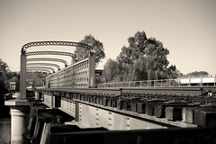 rail bridge 3 sepia (Axemaniac-Art) Tags: bridge sepia river railway nsw murray rockon alburywodonga yourockwinner yourock2nd yourockunanimous herowinner pregamesweepwinner pregameduelwinner axemaniac2012 axemaniacjune2012 axemaniacjune
