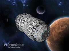 Prometheus. Space (Fianat) Tags: light brick stars star war power lego space pirates nasa pirate universe pf prometheus eurobrick fuctions
