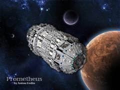 Prometheus. Space (Fianat) Tags: light brick stars star war power lego space pirates nasa pirate universe pf prometheus eurobrick fuctions
