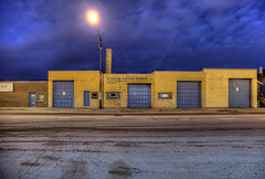 Metal Tanks (Cycle the Ghost Round) Tags: city urban usa chicago evening illinois industrial cloudy dusk unitedstatesofamerica overcast gritty solitary hdr alienation lonley westtown alienated 3xp photomatix canonef1635mmf28lusm islolated canon5dmarkii