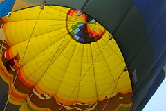 Balloon (andrewpug) Tags: color smile yellow happy fly high colorful peace balloon hotairballoon