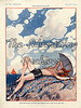 30573574 (The Advertising Archives) Tags: sea sun clouds vintage naked french holidays nudes side illustrations erotica retro posters artdeco bathing saucy magazinecovers lavieparisienne magazineartwork theadvertisingarchives magazineplates
