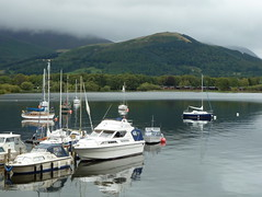 Latrigg and Derwentwater from Nicholl End Marina Lake District Cumbria (woodytyke) Tags: keswick derwentwater water lakedistrict england lake boats woodytyke lakeland lakes visitor tourism north west touring great united kingdom westmoreland district cumberland county borrowdale cumbria mountain fells bay walk around boat flood flooding mooring pontoon cafe skiddaw latrigg grp fibreglass cruiser motor sailing yacht hire mast hull marina stephen woodcock photo photograph camera foto photography best picture composition digital phone colour