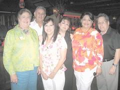 Iliana Cabrera, Marti Miller, Chuy Negrete, Estrella Negrete, Cynthia Sakulenzki y Aarón Cabrera.