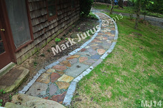 WM Mark Jurus 14, flat work, walkway, pathway irregular flagging, dry laid stone construction, copyright 2014