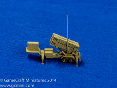 Patriot Launcher in 1/285th Scale (GameCraft) Tags: game miniatures miniature model missile patriot wargame aa launcher 6mm antiaircraft microarmor 1285th microarmour 285th gamecraft gamecraftminiaturescom