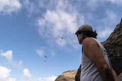 Watching (tiger_tim_2000) Tags: people afternoon oahu paragliding activities makapuu crazys firemandave timeperiod davegoto frankpg hangglidergroup