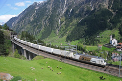 465016 - Wassen Meienreussbrücke 10/05/16 (James Welham) Tags: switzerland bls canton uri wassen chiasso 50512 oensingen gotthardbahn goschenen meienreussbrücke 465016 railcare