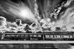 Train and sky (bob.wheater) Tags: sky train lens iso100 nikon norfolk sigma f10 bigsky 1020mm 1500 flair sherringham d7100