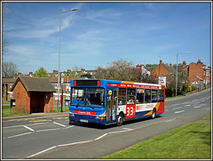 Stagecoach 34491, Oliver Street, Rugby (Jason 87030) Tags: camera blue light sky 3 town shot may picture sunny scene fave flats views roadside dennis alpha publictransport amateur 31 dart stagecoach midlands 2016 slf ilce oliverstreet 34491 longlawford sonya6000