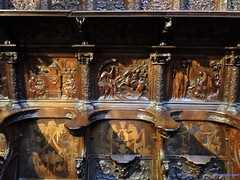 vila (santiagolopezpastor) Tags: espaa church choir spain cathedral gothic catedral iglesia medieval espagne middleages castilla coro vila castillaylen gtico provinciadevila