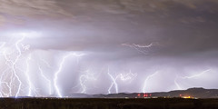 Thunderstorm Extreme Weather Over Golden Colorado Panorama (Striking Photography by Bo Insogna) Tags: street city blue light sky panorama cloud storm man building nature rain weather electric skyline night dark lights golden colorado energy cityscape power view flash dramatic bolt electricity strike thunderstorm lightning lightening electrical thunder climate thunderbolt jamesinsogna